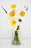Daffodils в вазе Стоковые Фото