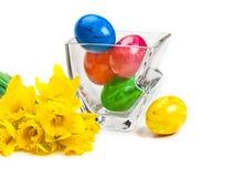 Daffodils, пасхальные яйца Стоковое Изображение RF