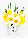 Daffodils in a vase Royalty Free Stock Photo