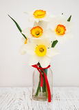 Daffodils in a vase Stock Photography