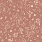 Daffodils vector sample pattern. Flowers pattern hand draw sample pattern Stock Photos