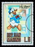 Daffy Duck Postage Stamp Images libres de droits