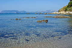 Dafne beach in Zakynthos island Royalty Free Stock Images