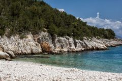 Dafnoudi beach Stock Photo
