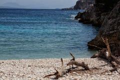 Dafnoudi beach Stock Images