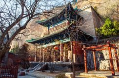Dafo hall of Jingyin Temple. Jingyin Temple was built in the the Northern Qi Dynasty (550-577) and rebuilt in many times. It is located Northwest suburbs of Royalty Free Stock Image
