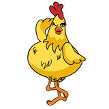 Daft Chicken Cartoon 02 Stock Photos