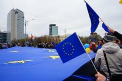 Dagårsdag för europeisk union i Bucharest, Rumänien Arkivbild