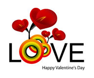 Dag 02 van de valentijnskaart Royalty-vrije Stock Fotografie
