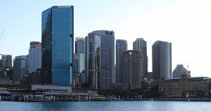 Dag aan nacht timelapse de horizon 4K van van Sydney, Australië stock footage