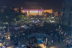 Dag 3 Antioverheidsprotesteerders in Boekarest Royalty-vrije Stock Afbeeldingen