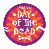 Dag av död traditionell mexicansk allhelgonaaftonDia De Los Muertos Holiday Party garnering Arkivfoton