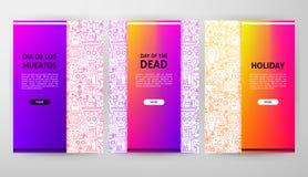 Dag av den döda broschyrrengöringsdukdesignen stock illustrationer