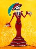 Dag av den döda Catrina Skeleton royaltyfri illustrationer