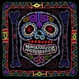 Dag av den döda färgrika Sugar Skull Arkivfoto