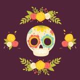 Dag av den döda färgrika vektorillustrationen Fotografering för Bildbyråer