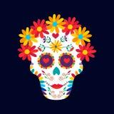 Dag av den döda konsten för garnering för Mexiko sockerskalle stock illustrationer
