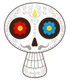 Dag av den döda Mexiko vektorillustrationen Arkivfoton