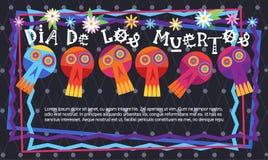 Dag av den döda traditionella mexicanska allhelgonaaftonen Dia De Los Muertos Royaltyfri Fotografi
