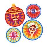 Dag av den döda traditionella mexicanska allhelgonaaftonen Dia De Los Muertos Holiday Party Arkivfoton