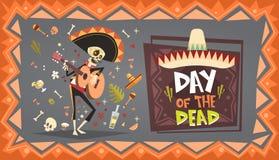 Dag av den döda traditionella mexicanska allhelgonaaftonen Dia De Los Muertos Holiday Party Royaltyfri Fotografi