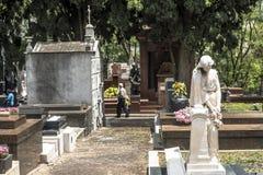 Dag av det avlidet i kyrkogården av Consolacao royaltyfria bilder
