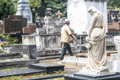 Dag av det avlidet i kyrkogården av Consolacao royaltyfri bild
