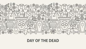 Dag av det döda banerbegreppet stock illustrationer