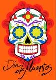 Dag av det döda partiet Kort för Dea de los muertos stock illustrationer