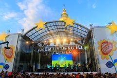 Dag av Europa i Ukraina 2015 Fotografering för Bildbyråer