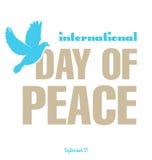 Dag av fred stock illustrationer