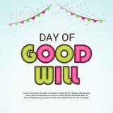 Dag av goodwill royaltyfri illustrationer