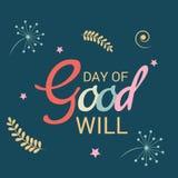 Dag av goodwill stock illustrationer