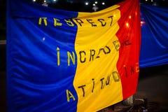 Dag 105 av protesten, Bucharest, Rumänien Arkivbild