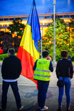 Dag 105 av protesten, Bucharest, Rumänien Arkivfoton