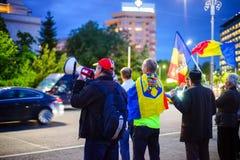 Dag 105 av protesten, Bucharest, Rumänien Fotografering för Bildbyråer