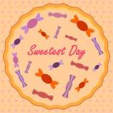 Dag av sötsaker i USA vektor illustrationer