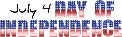 Dag av självständighet stock illustrationer