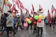 Dag av självständighet av Litauen Arkivbild