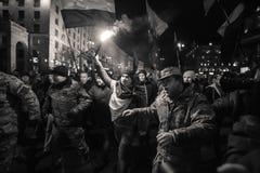 Dag av värdighet och frihet i Ukraina Arkivbilder