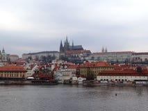 Dag dag i mitt av Prague Royaltyfria Bilder