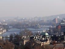 Dag dag i mitt av Prague Royaltyfri Fotografi