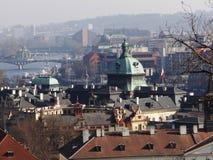 Dag dag i mitt av Prague Fotografering för Bildbyråer