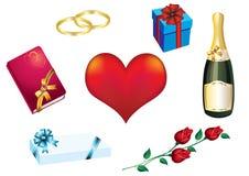 Dag de achtergrond van de Valentijnskaart Stock Fotografie