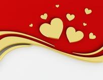 Dag de Als achtergrond van 3D Valentine Stock Illustratie
