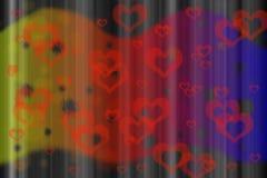Dag de als achtergrond van de abstracte Valentijnskaart Stock Afbeeldingen