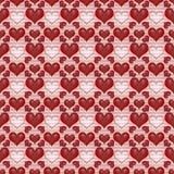 Dag de als achtergrond van de naadloze Rode Valentijnskaart Royalty-vrije Stock Foto's