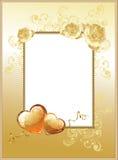 Dag de kader-achtergrond van de Valentijnskaart Stock Afbeelding
