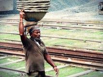 Dag die laborour in Bangladesh werken Royalty-vrije Stock Afbeelding
