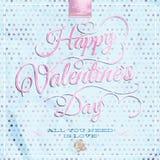 Dag die van gelukkig Valentine - de van letters voorzien Eps 10 Royalty-vrije Stock Afbeelding